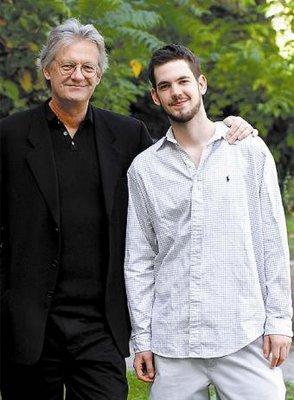 David Gilmour com seu filho, Jesse Gilmour
