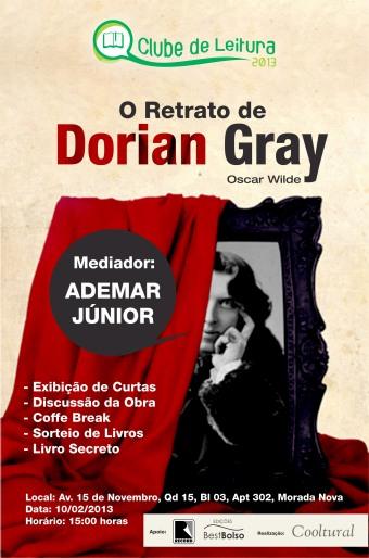 Cartaz - Clube de Leitura XII - O Retrato de Dorian Gray