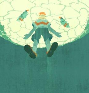 Lago de patos, ilustração de Emiliano Ponzi