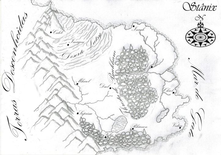 Mapa de Stânix (acompanha o livro)