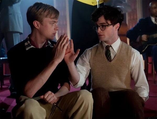 Lucien Carr (Dane DeHaan) e Allen Ginsberg (Daniel Radcliffe).