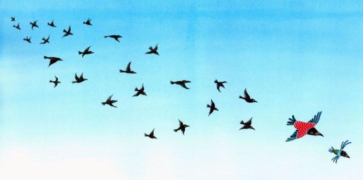 Os Corvos de Pearblossom (Ilustração de Sophie Blackall)