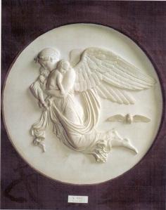 A Noite com seus filhos, o Sono e a Morte, relevo de  Bertel Thorvaldsen, 1815.