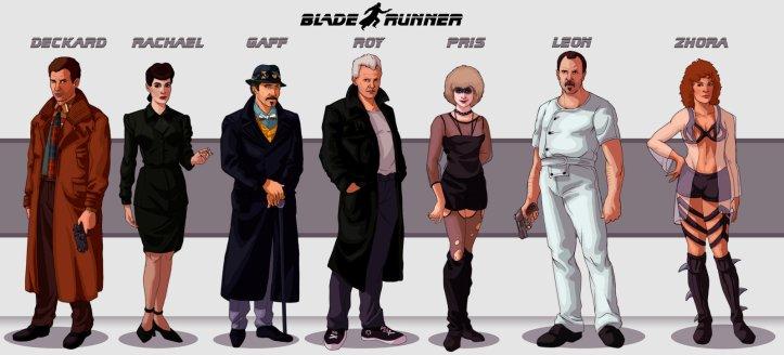 Personagens de Blade Runner (ilustração de Deimos Remus)