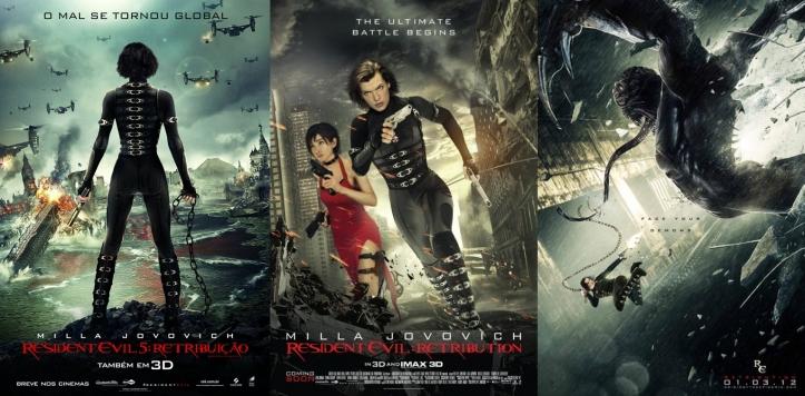 Cartazes do filme Resident Evil - Retribição