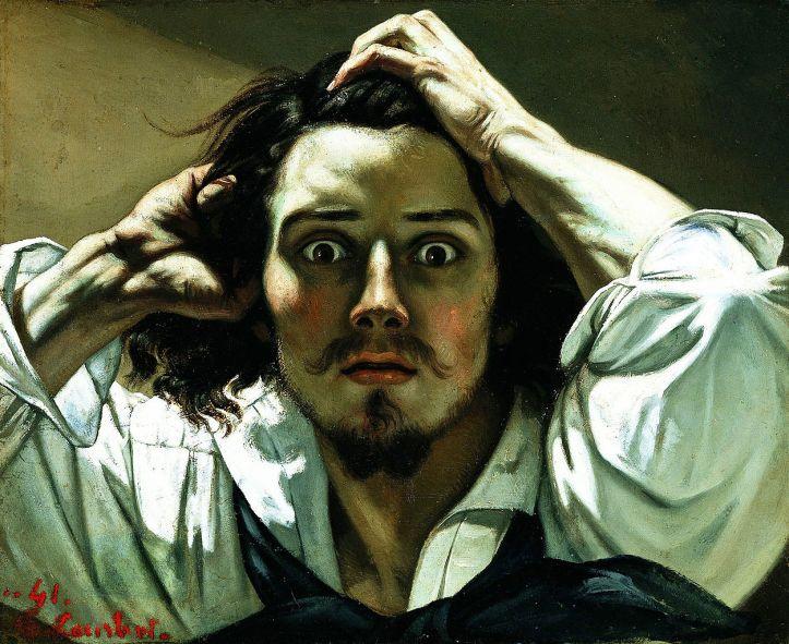 Imagem usada para a capa (The Desperate Man (Self-Portrait), de Gustave Courbet)