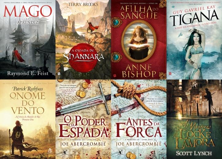Livros de Fantasia, publicados pela Saída de Emergência e Arqueiro, abordados no evento.