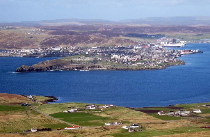 Lerwick: Uma das Ilhas de Shetland
