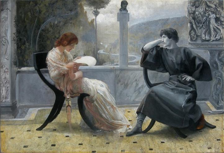 Giulio Aristide Sartorio La Lettura o Catullo e Clodia 1860-1932