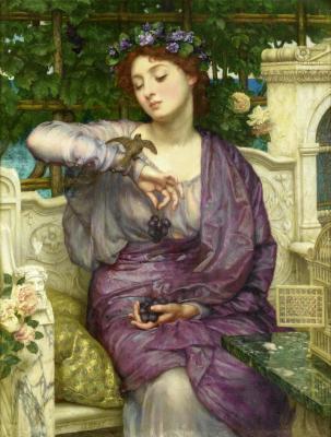Sir_Edward_John_Poynter_lesbia_and_her_sparrow 1907