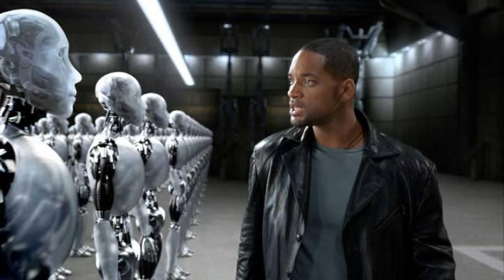 No filme, Will Smith procura um robô assassino