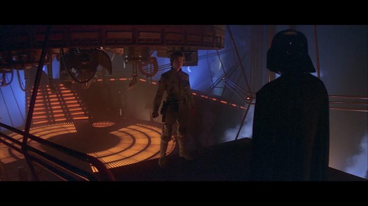 Luke enfrenta Darth Vader