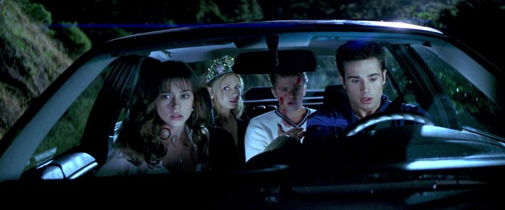Ryan Phillippe (Barry Cox), Freddie Prinze Jr. (Ray Bronson), Sarah Michelle Gellar (Helen Shivers) e Jennifer Love Hewitt (Julie James)