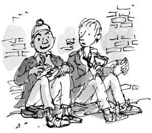 Darvesh e Dennis, em O Menino de Vestido.