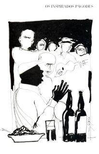 """Nei Lopes — Ilustrações do livro """"Candeia, luz da inspiração"""", de João Baptista M. Vargens. Martins FontesFunarte  1987"""