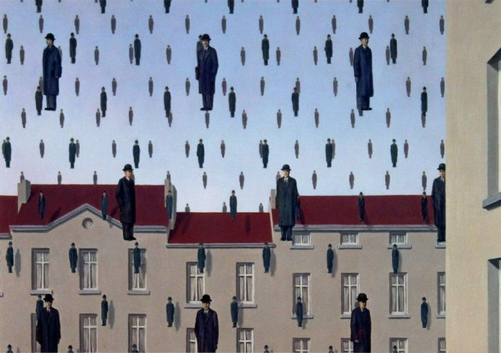 Golnconda, 1953 - by Rene Magritte