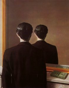 Not to Be Reproduced, 1937, by René Magritte. Um dos quadros do seu amigo Edward James.