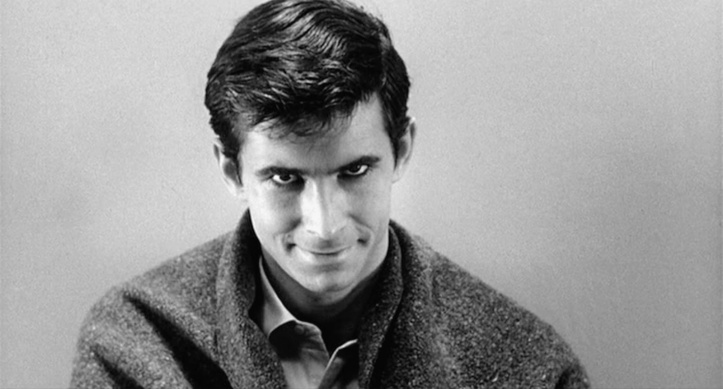 Anthony Perkins como Norman Bates em Psicose (1961)