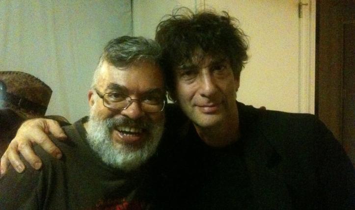Fábio Fernandes e Neil Gaiman