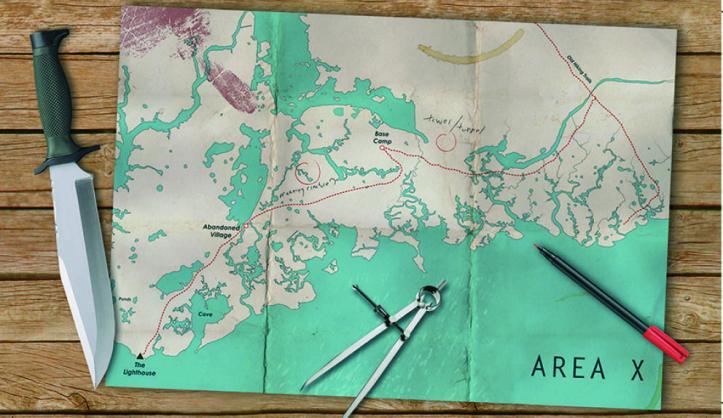 Mapa da área X