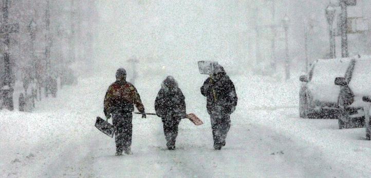 Tempestade de neve em New York, 2006.