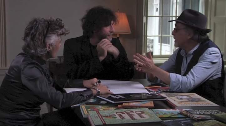 Françoise Mouly, Neil Gaiman e Art Spiegelman