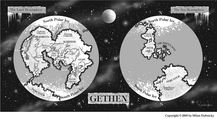 Gethen's Map (A Mão Esquerda da Escuridão)
