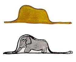 o pequeno principe jiboia elefante chapeu