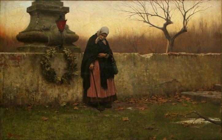 All Souls' Day by Jakub Schikaneder, 1888