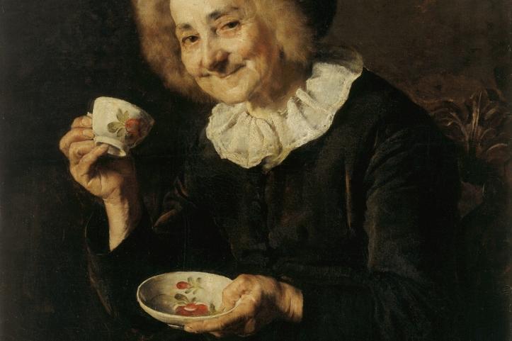 Coffee drinker by Ivana Kobilca, 1888
