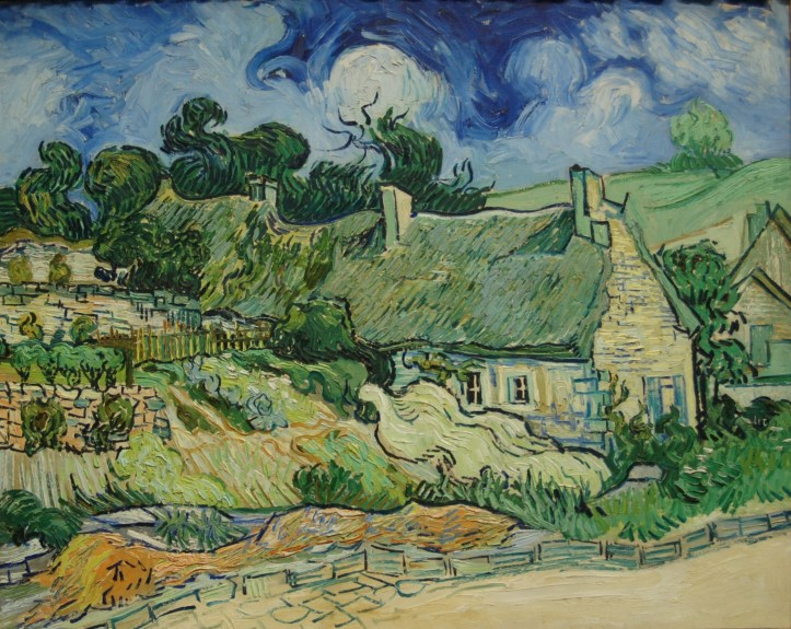 Thatched Cottages at Cordeville by Vincent van Gogh, 1890