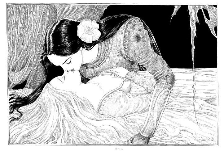 A Bela e a Adormecida (Ilustração 01)