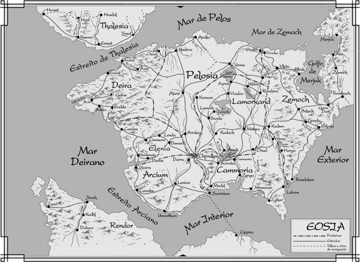 O Trono de Diamante (Mapa Eosia)