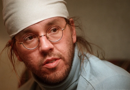 2-29-96 For John Barron story...David Foster Wallace discusses his new novel, 'Infinite Jest'.  Ellen Domke/Sun-Times  96-02-703